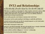 intj and relationships