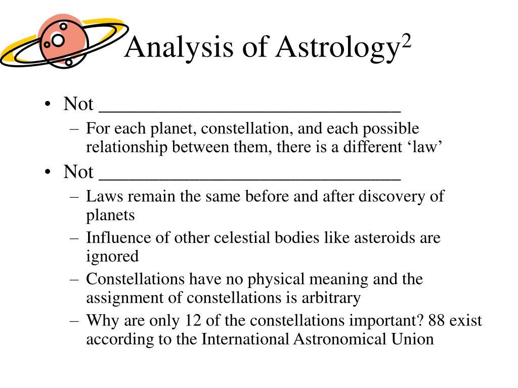 Analysis of Astrology