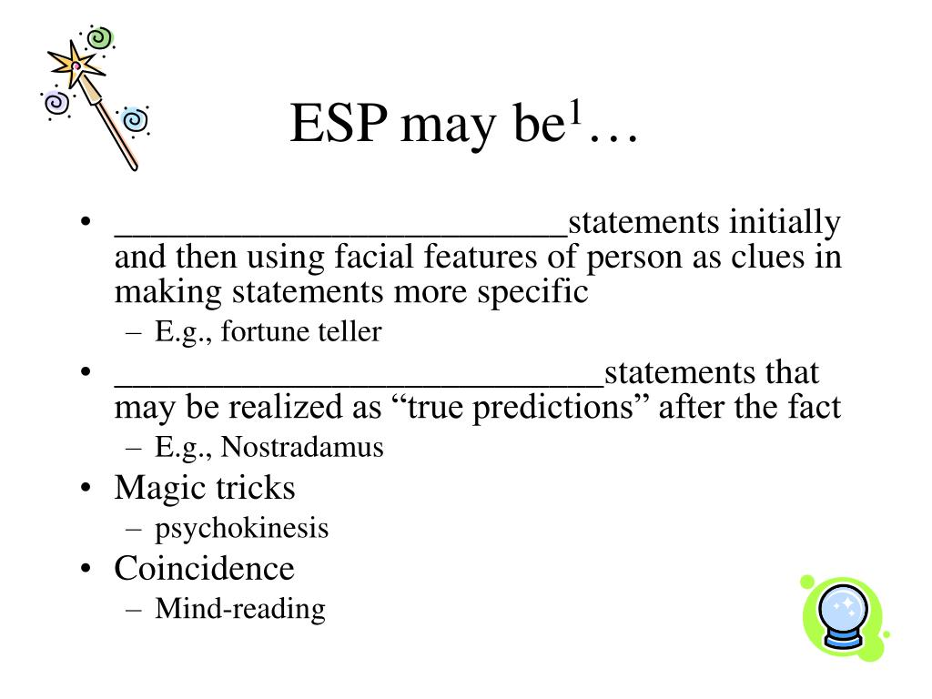 ESP may be