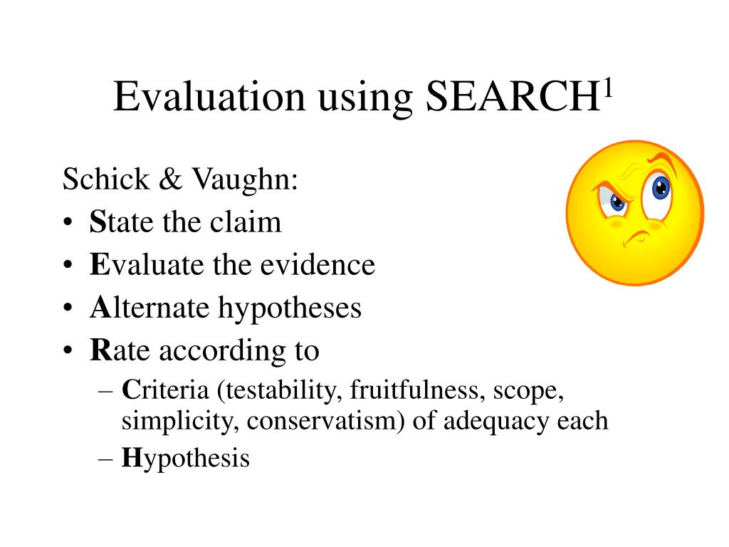 Evaluation using SEARCH