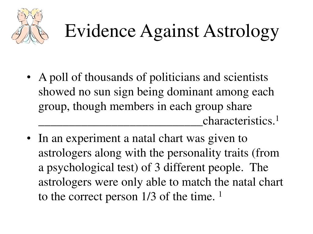 Evidence Against Astrology