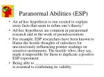paranormal abilities esp