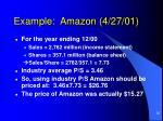 example amazon 4 27 01