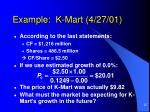 example k mart 4 27 01