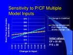 sensitivity to p cf multiple model inputs