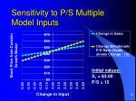 sensitivity to p s multiple model inputs