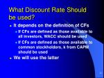 what discount rate should be used