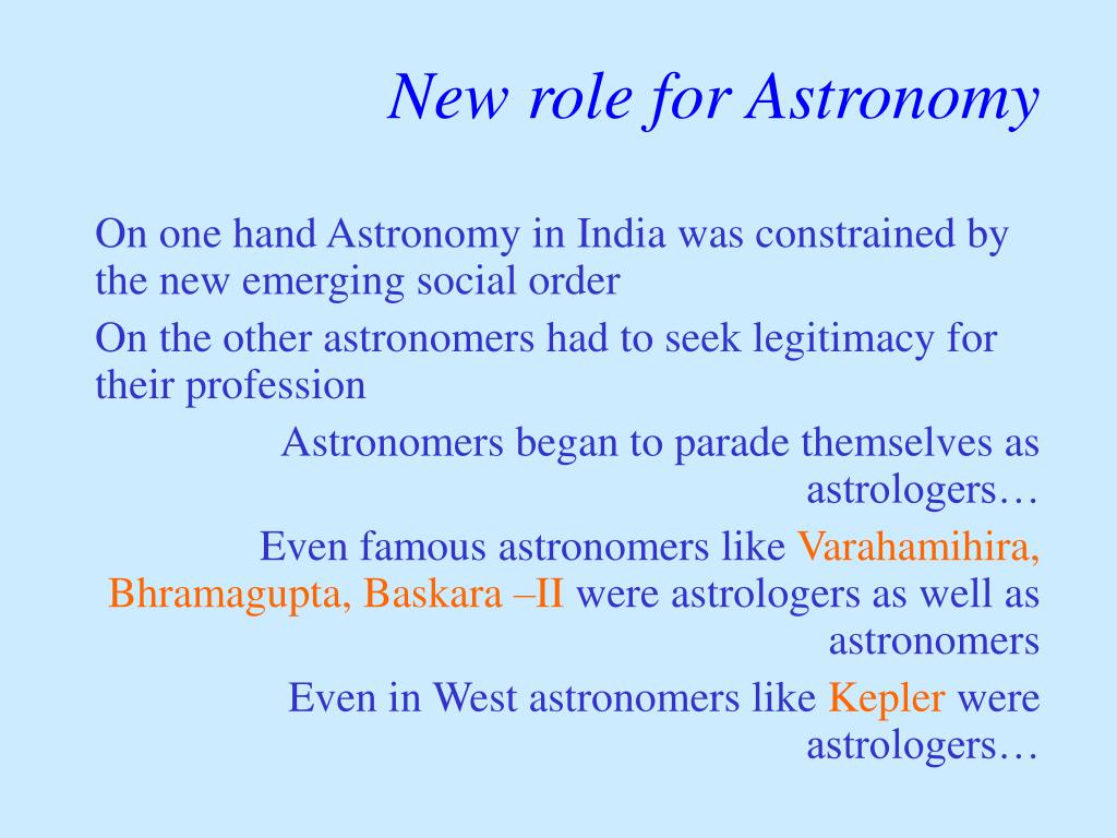 New role for Astronomy