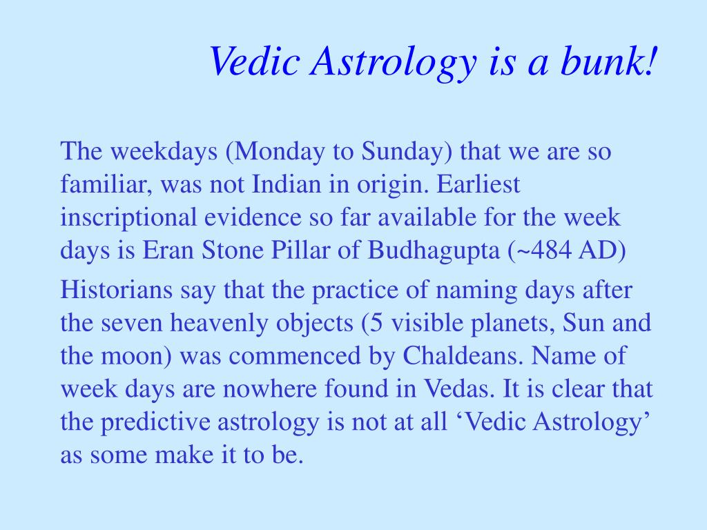 Vedic Astrology is a bunk!