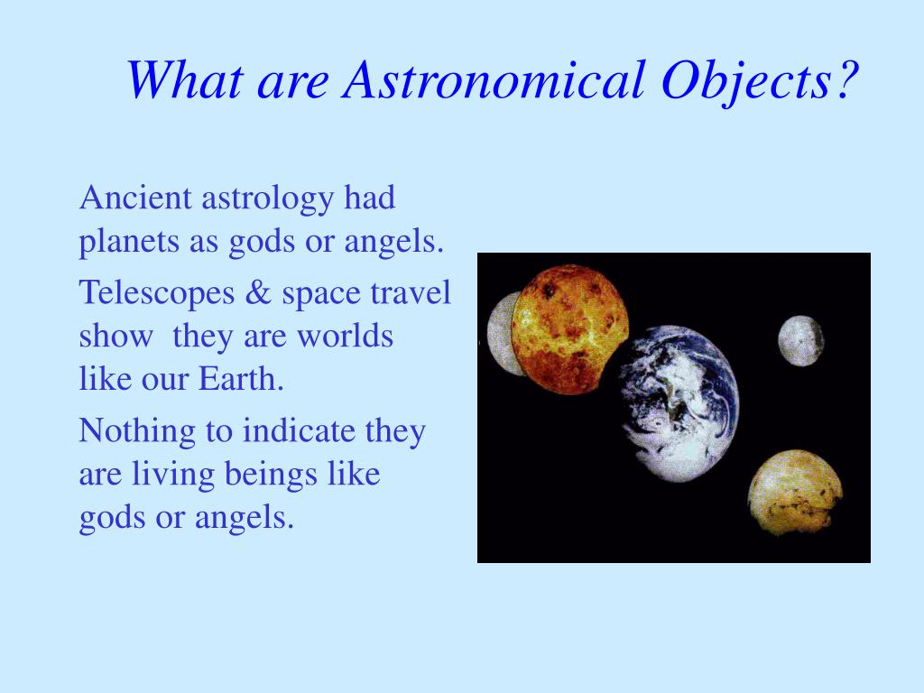 What are Astronomical Objects?