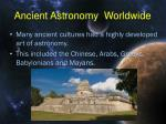 ancient astronomy worldwide
