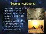 egyptian astronomy