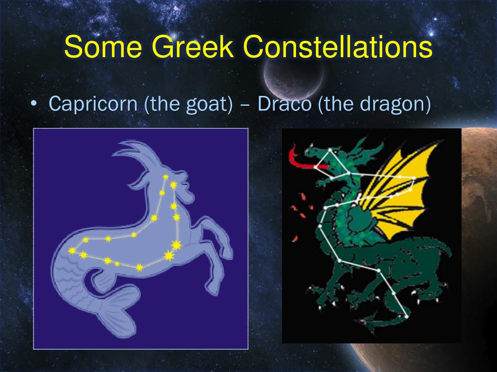 Some Greek Constellations