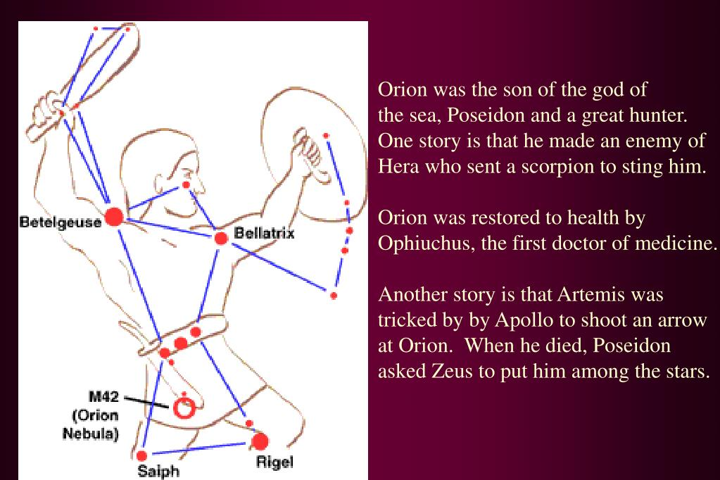 Orion was the son of the god of
