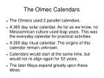 the olmec calendars