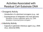 activities associated with residual cell substrate dna