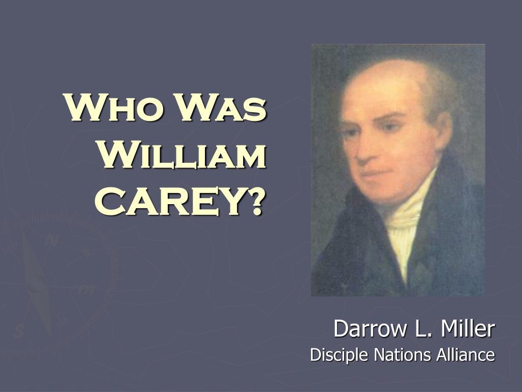 who was william carey l.