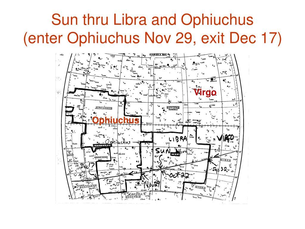 Sun thru Libra and Ophiuchus