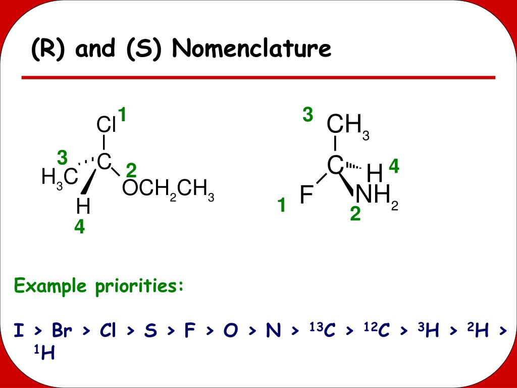 (R) and (S) Nomenclature