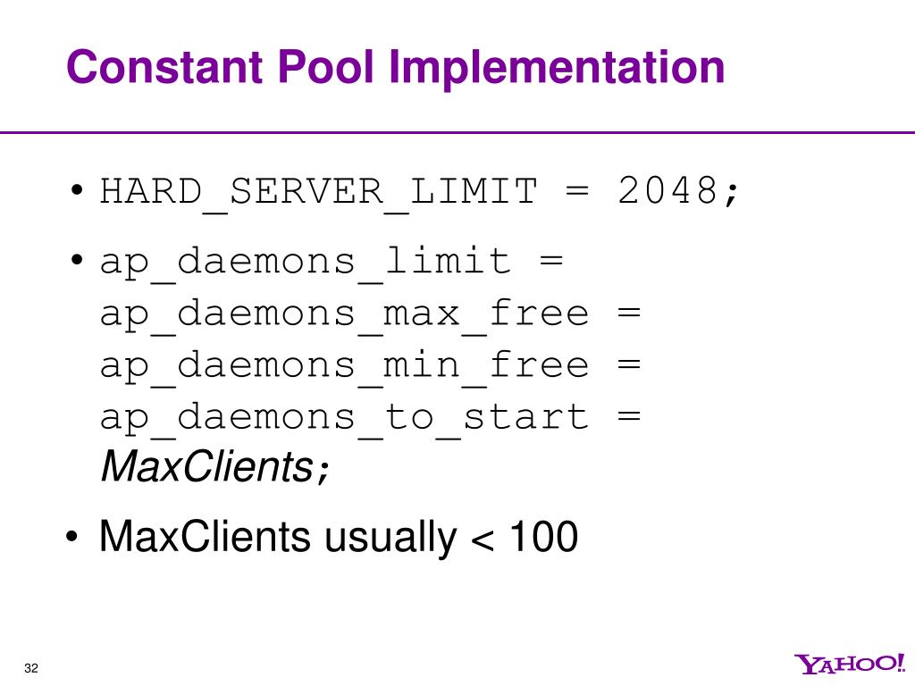 Constant Pool Implementation