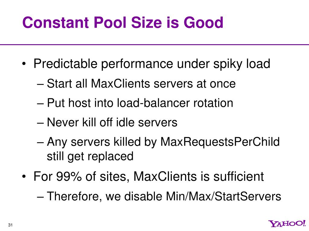 Constant Pool Size is Good