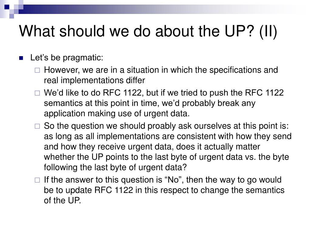 What should we do about the UP? (II)