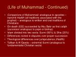 life of muhammad continued