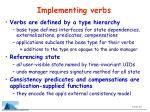 implementing verbs