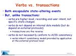 verbs vs transactions