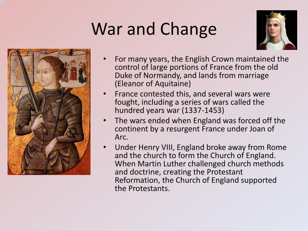 War and Change