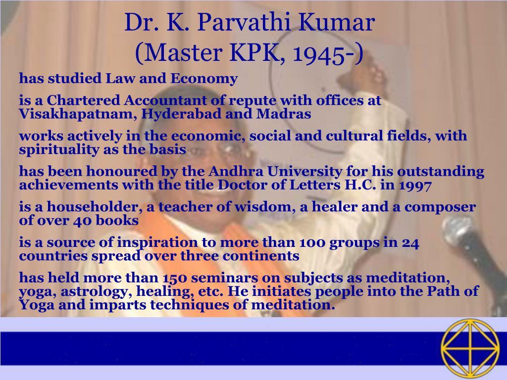 Dr. K. Parvathi Kumar