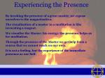 experiencing the presence24