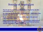 sources of inspiration