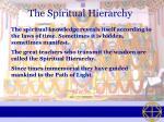 the spiritual hierarchy