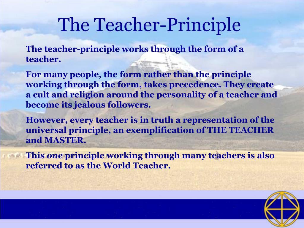 The Teacher-Principle