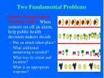 two fundamental problems1