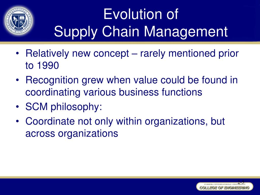 the philosophy of supply chain management A management philosophy that guides the actions of company members toward the goal of actively managing the upstream and downstream flows of goods, services, finances, and information across the supply chain when a company recognizes the importance of sharing supply and demand info with suppliers and customers.