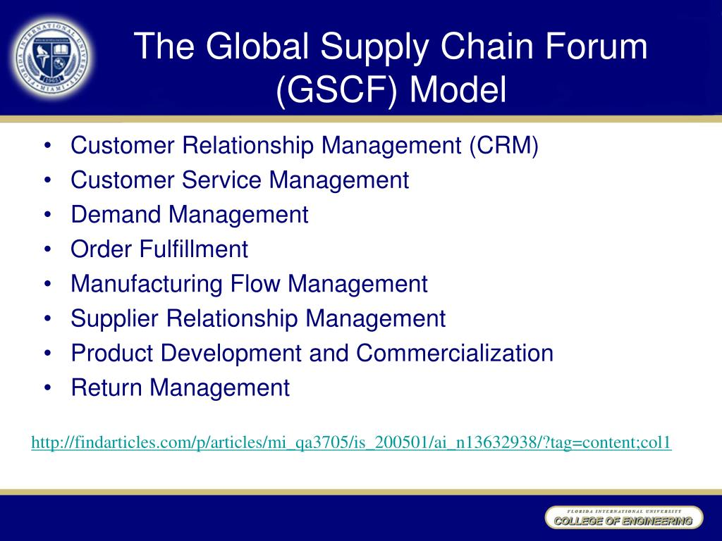 ppt chapter 5 the supply chain management concept