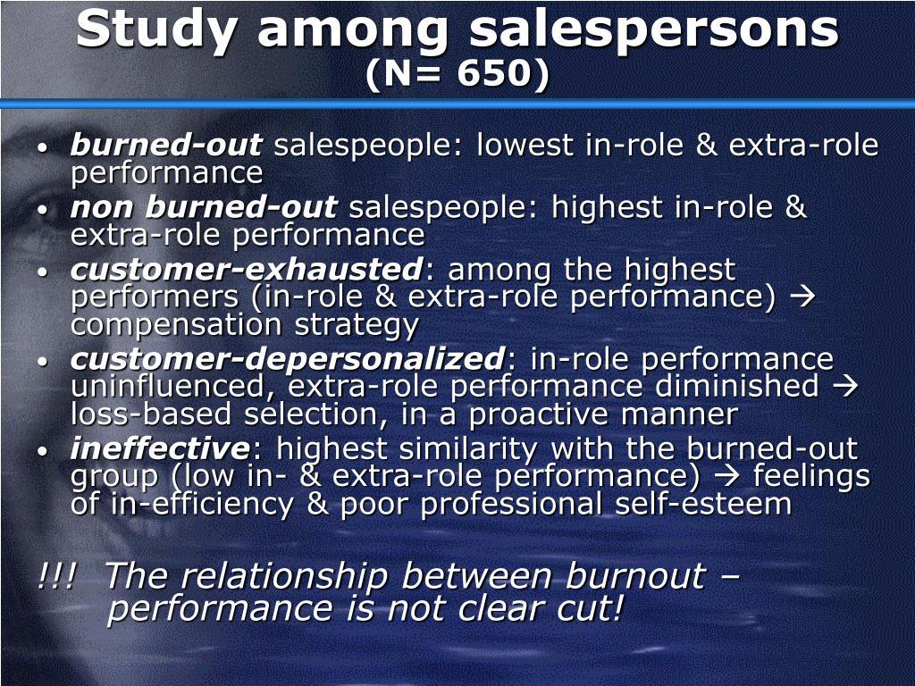 Study among salespersons