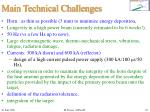 main technical challenges
