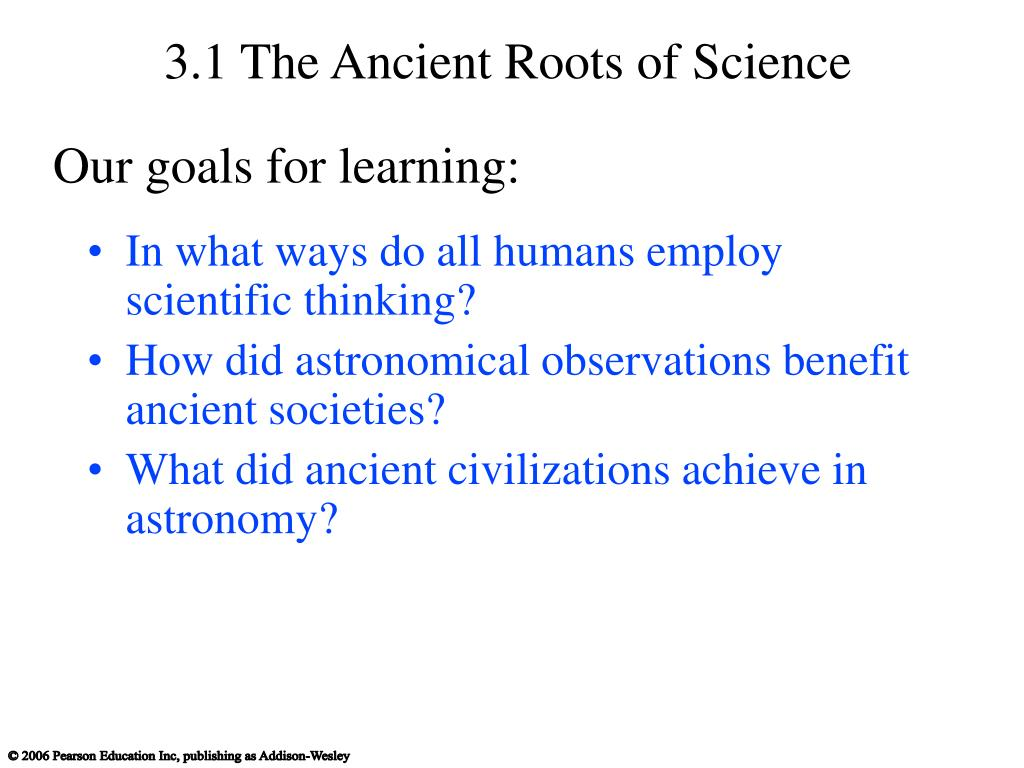 3.1 The Ancient Roots of Science