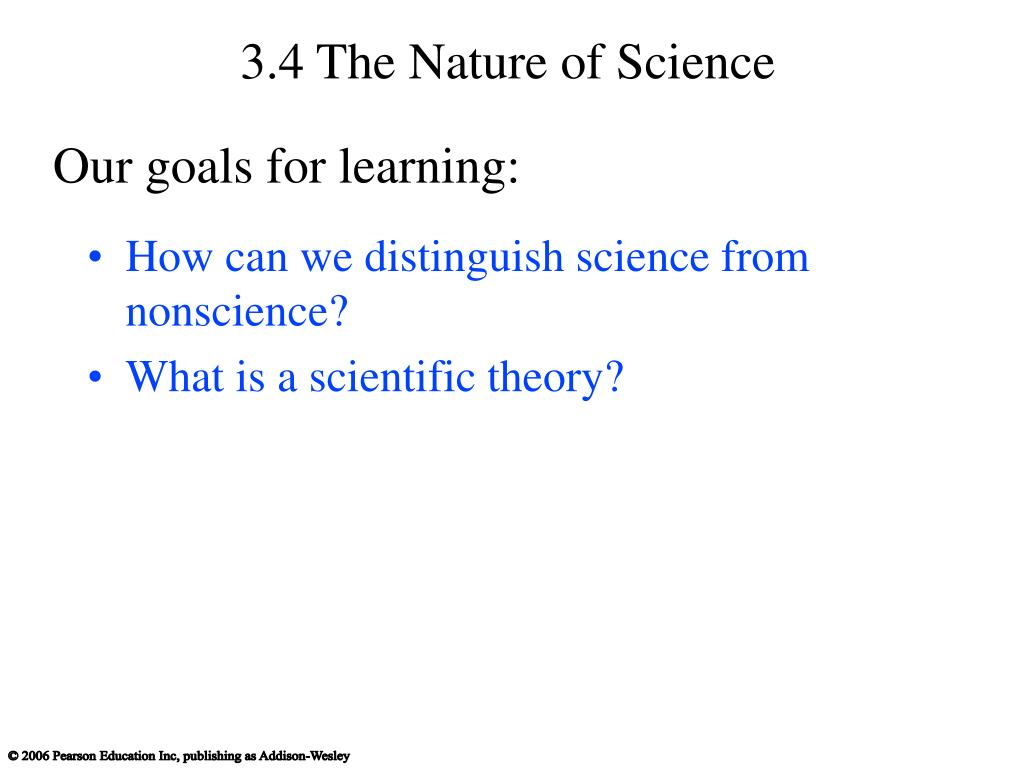 3.4 The Nature of Science