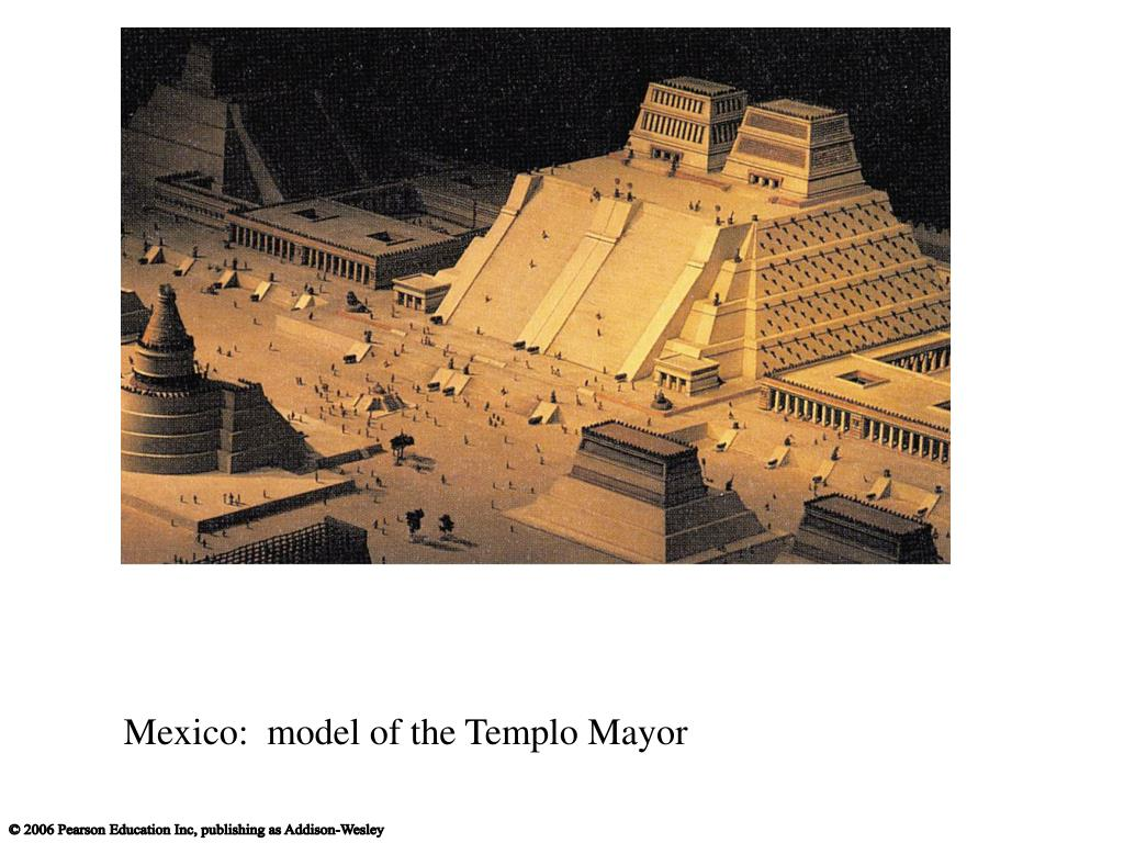 Mexico:  model of the Templo Mayor