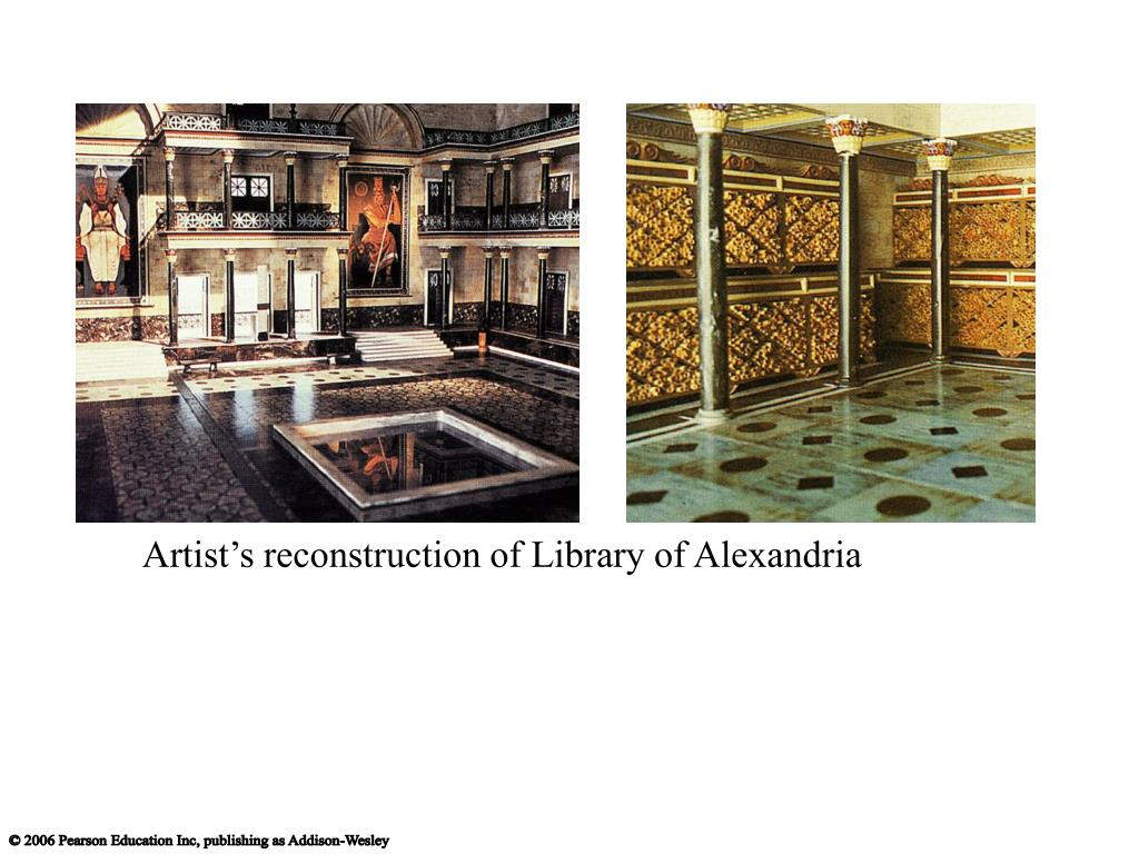 Artist's reconstruction of Library of Alexandria