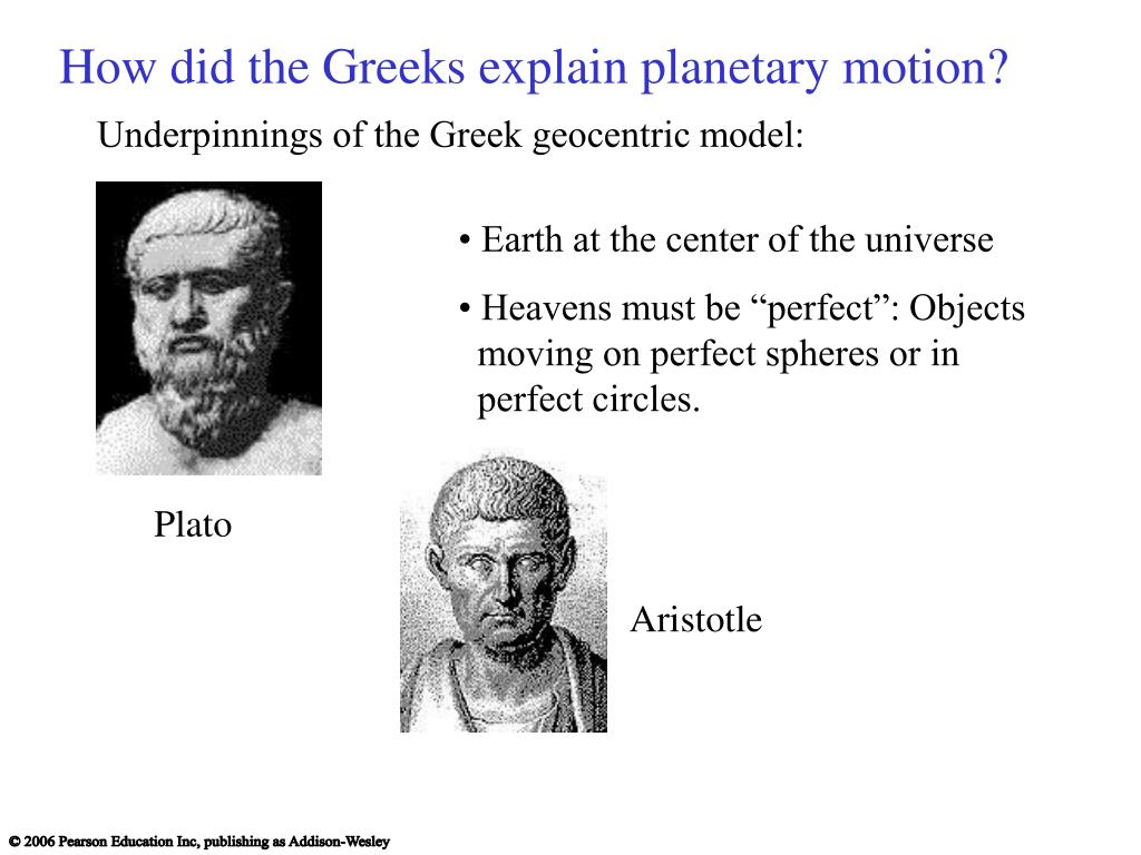 How did the Greeks explain planetary motion?