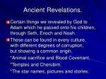 ancient revelations
