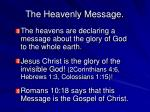 the heavenly message