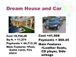 dream house and car