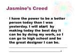 jasmine s creed
