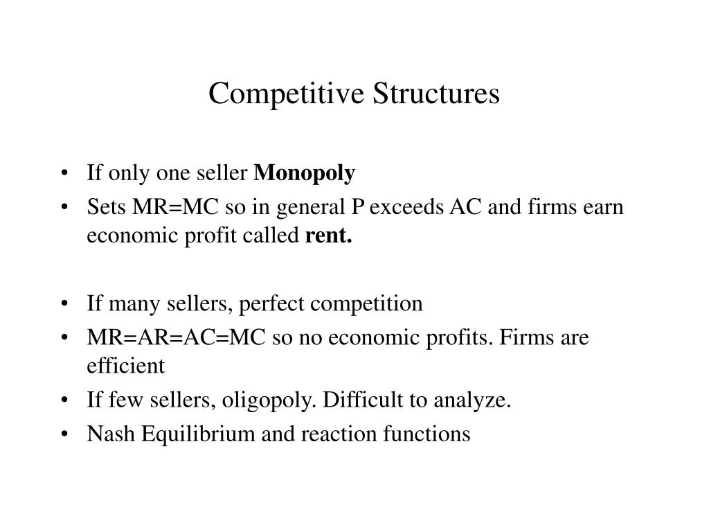 Competitive Structures